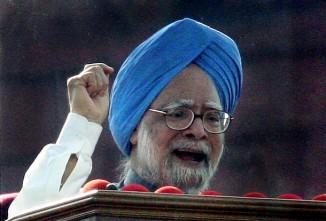 Indian Prime Minister Manmohan Singh rai